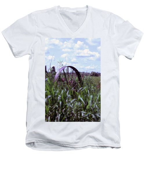 Old Wheel  Men's V-Neck T-Shirt by Joann Copeland-Paul