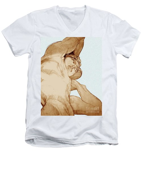 Olympic Athletics Discus Throw Men's V-Neck T-Shirt
