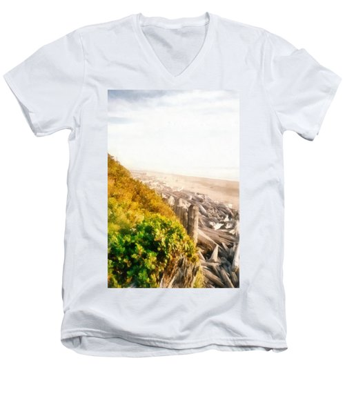 Olympic Peninsula Driftwood Men's V-Neck T-Shirt