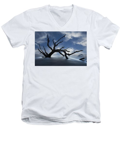 On A Misty Morning Men's V-Neck T-Shirt