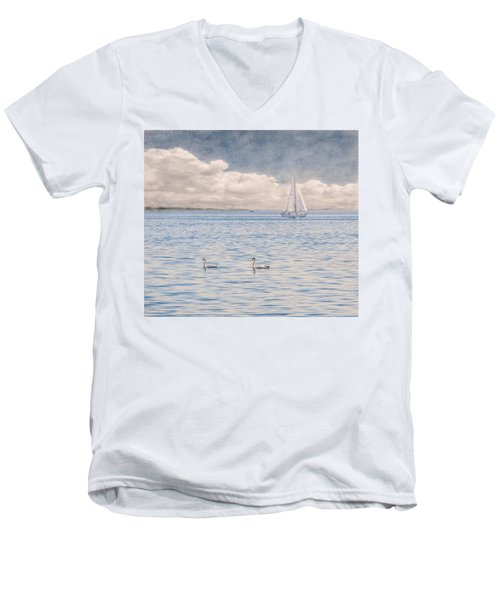 On A Summer's Breeze Men's V-Neck T-Shirt