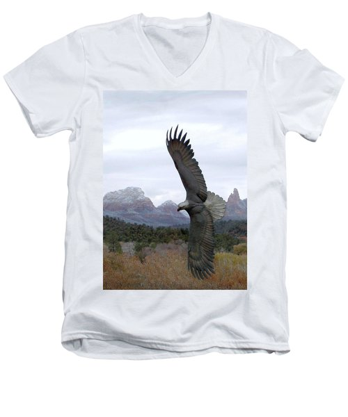 On Eagles Wings Men's V-Neck T-Shirt