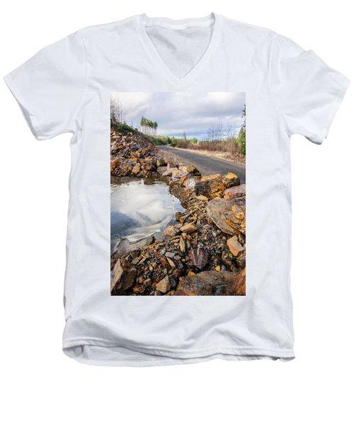 On Frozen Pond Collection 6 Men's V-Neck T-Shirt