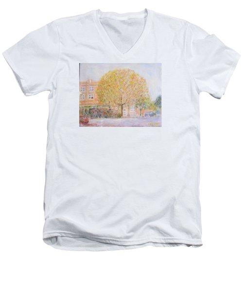 Leland Avenue In Chicago Men's V-Neck T-Shirt