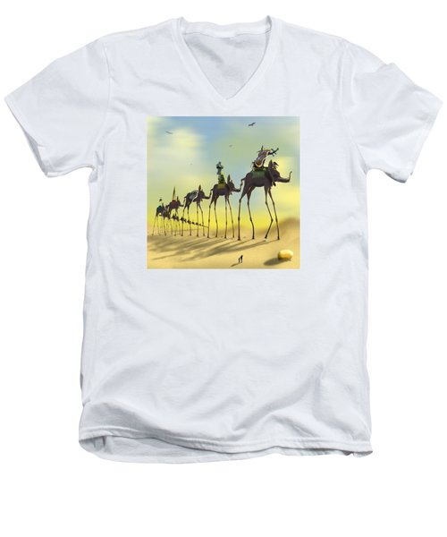 On The Move 2 Without Moon Men's V-Neck T-Shirt by Mike McGlothlen