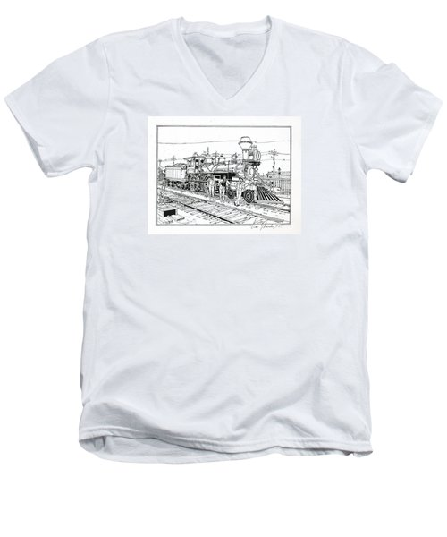 On The Old Pennsy Men's V-Neck T-Shirt by Ira Shander
