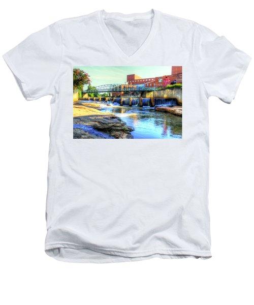On The Reedy River In Greenville Men's V-Neck T-Shirt