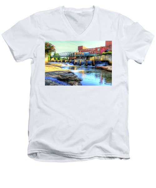 On The Reedy River In Greenville Men's V-Neck T-Shirt