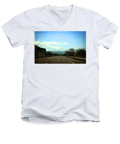 On The Road To Mount Hood Men's V-Neck T-Shirt
