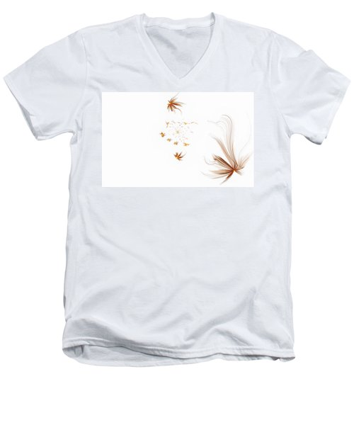 Men's V-Neck T-Shirt featuring the digital art On The Wind by GJ Blackman