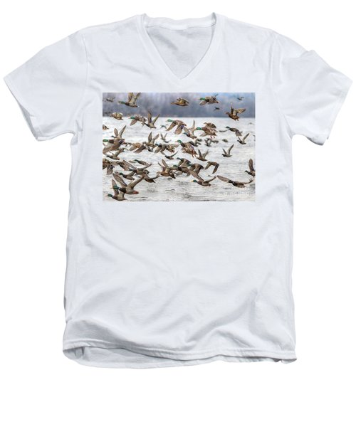 Men's V-Neck T-Shirt featuring the photograph One Direction One by Robert Pearson