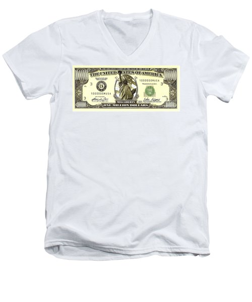One Million Dollar Bill Men's V-Neck T-Shirt