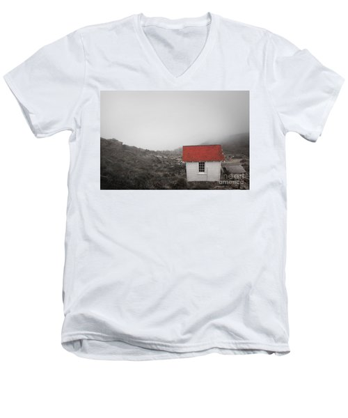 Men's V-Neck T-Shirt featuring the photograph One Room In A Fog by Ellen Cotton