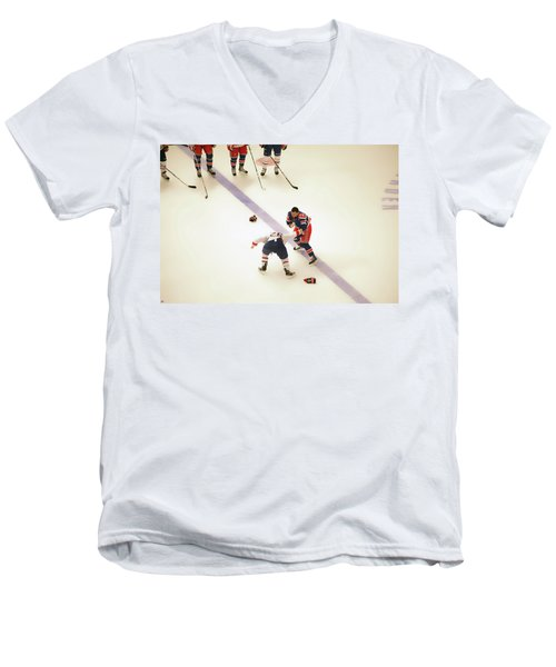 One Two Punch Men's V-Neck T-Shirt by Karol Livote