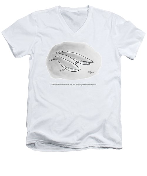 One Whale Says To Another Men's V-Neck T-Shirt