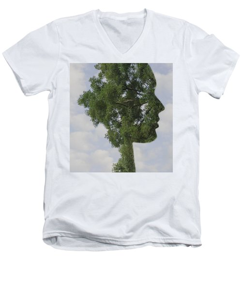 One With Nature Men's V-Neck T-Shirt