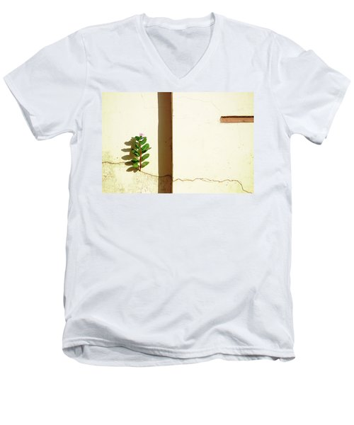 Optimism Pays Men's V-Neck T-Shirt