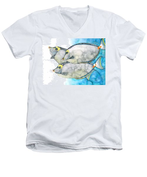 Orangespine Unicornfish Men's V-Neck T-Shirt