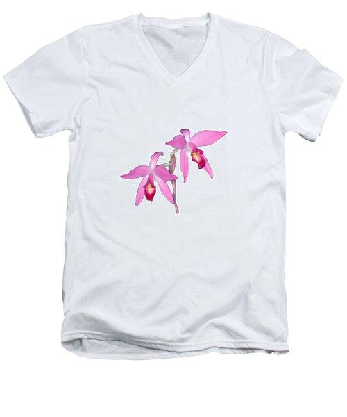 Orchid 1-1 Men's V-Neck T-Shirt by Andy Shomock