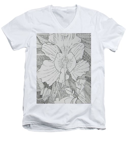 Orchid In Disguise Men's V-Neck T-Shirt