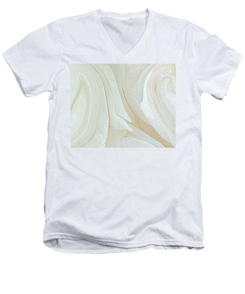 Orchids In Snow  C2014 Men's V-Neck T-Shirt