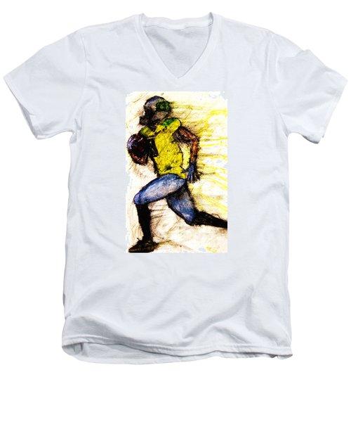 Oregon Football 2 Men's V-Neck T-Shirt by Michael Cross
