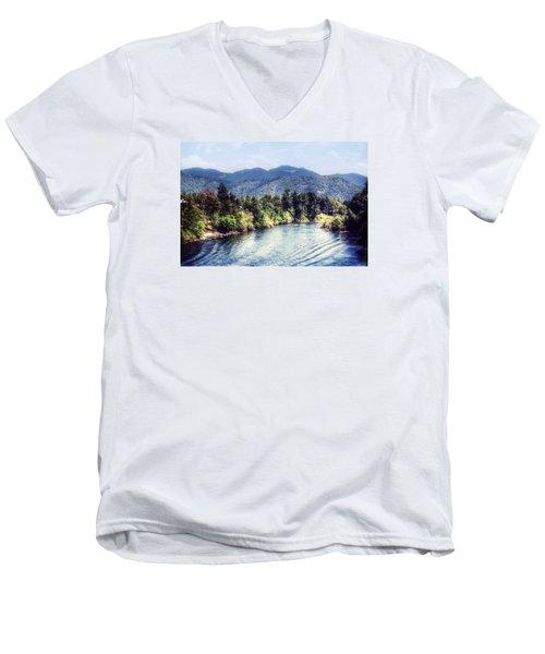 Oregon Views Men's V-Neck T-Shirt by Melanie Lankford Photography