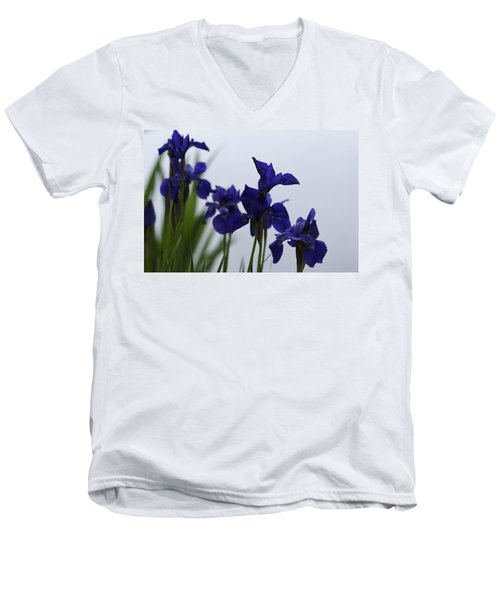 Men's V-Neck T-Shirt featuring the photograph Osaka Garden by Miguel Winterpacht