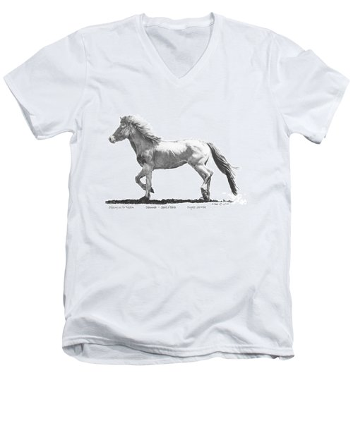 Oshunnah Stepping Out For Freedom Men's V-Neck T-Shirt