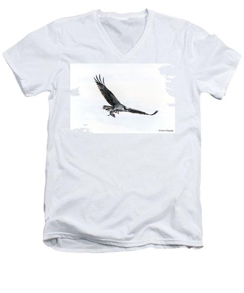 Osprey In Flight Men's V-Neck T-Shirt