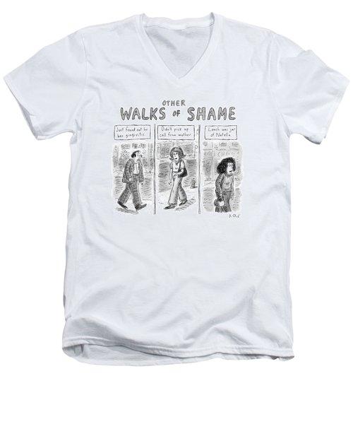 Other Walks Of Shame -- Just Found Men's V-Neck T-Shirt