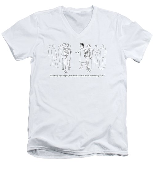 Our Hobby Is Finding Old Men's V-Neck T-Shirt