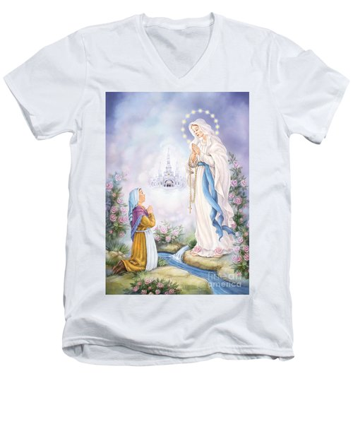 Our Lady Of Lourdes Men's V-Neck T-Shirt