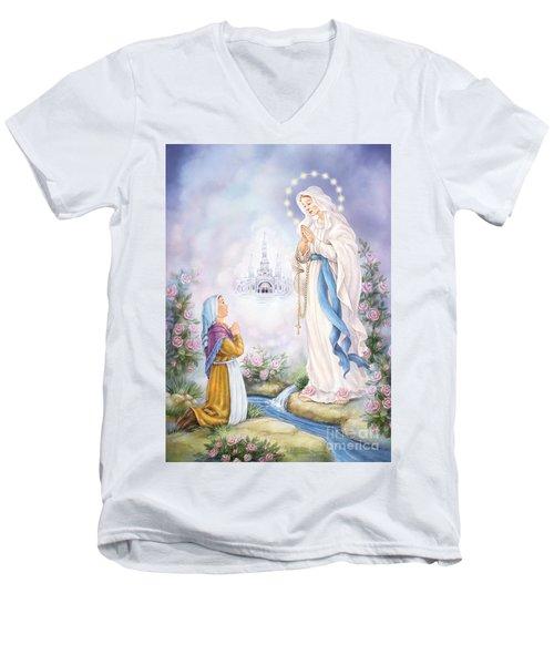 Our Lady Of Lourdes Men's V-Neck T-Shirt
