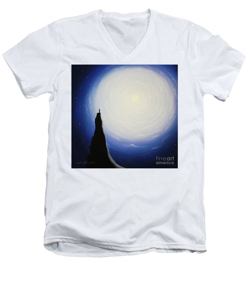 Somewhere Out In Space Men's V-Neck T-Shirt