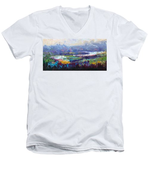 Overlook Abstract Landscape Men's V-Neck T-Shirt