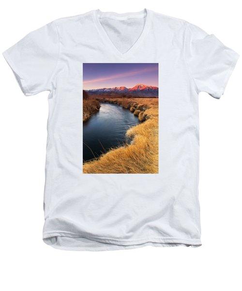 Owens River Men's V-Neck T-Shirt by Tassanee Angiolillo