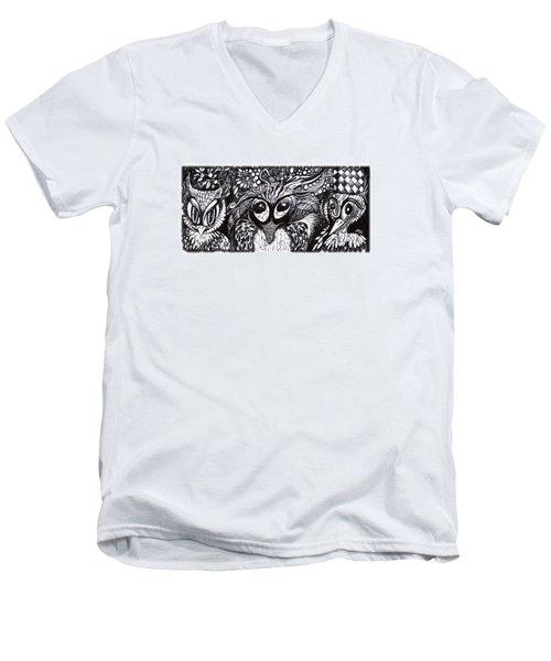 Owls Eyes Men's V-Neck T-Shirt