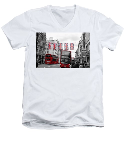 Oxford Street Flags Men's V-Neck T-Shirt