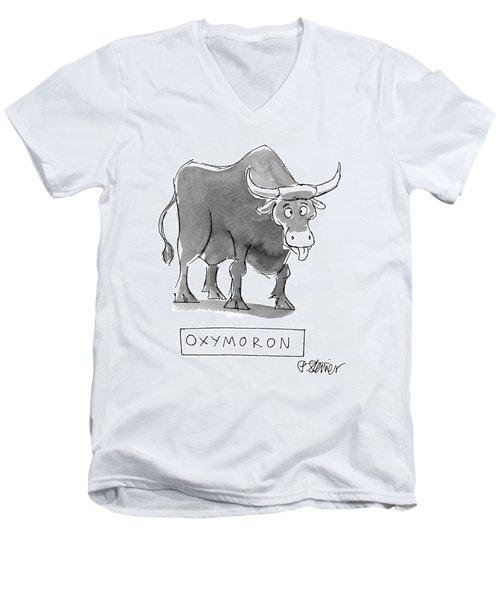 'oxymoron' Men's V-Neck T-Shirt