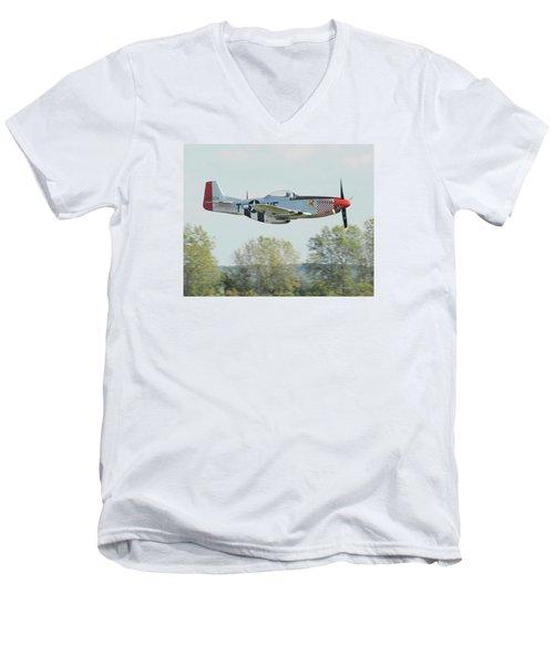 P-51d Mustang Shangrila Men's V-Neck T-Shirt by Alan Toepfer