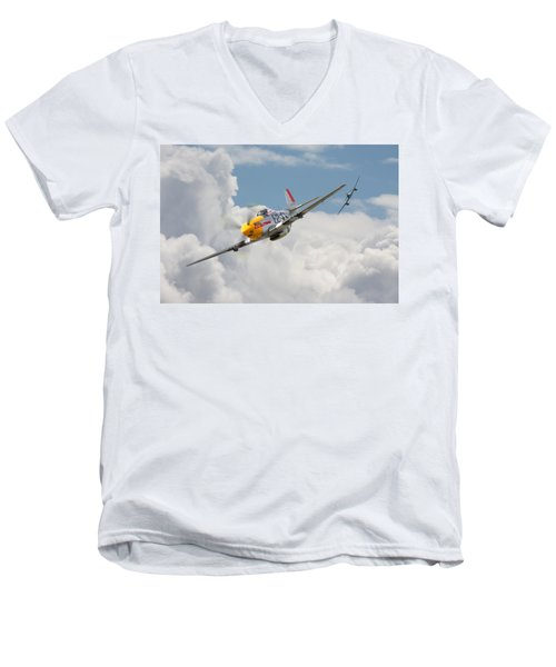 P51 Mustang And Me 262 Men's V-Neck T-Shirt