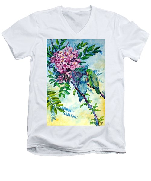 Pacific Parrotlets Men's V-Neck T-Shirt