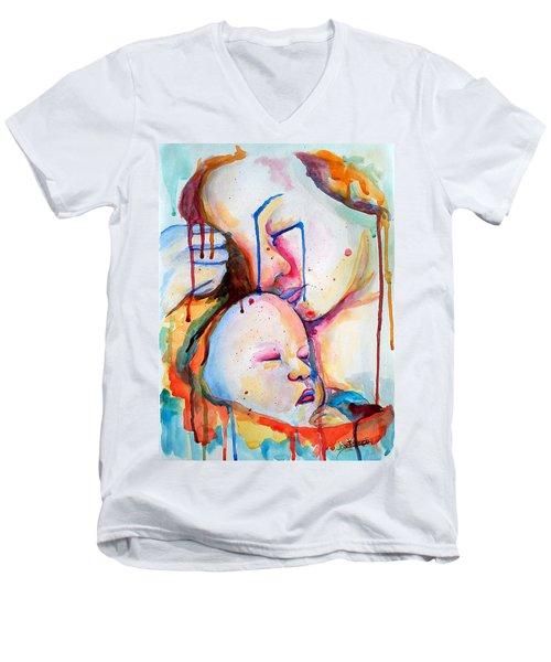 Painful Joy Men's V-Neck T-Shirt by Janet Garcia