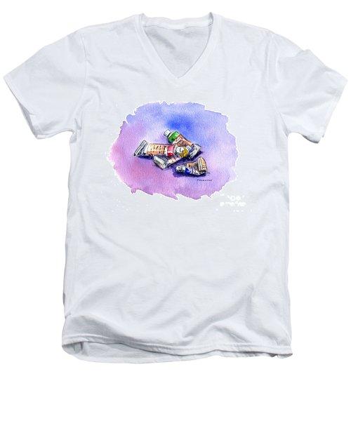 Paint Tubes Men's V-Neck T-Shirt