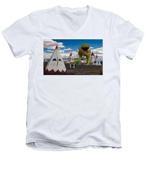 Painted Desert Indian Center  Men's V-Neck T-Shirt by Gary Warnimont