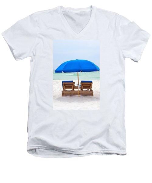 Panama City Beach Florida Men's V-Neck T-Shirt by Vizual Studio