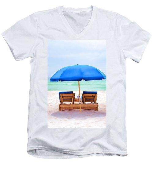 Men's V-Neck T-Shirt featuring the photograph Panama City Beach II by Vizual Studio