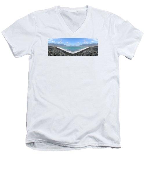 Panorama Lake Men's V-Neck T-Shirt