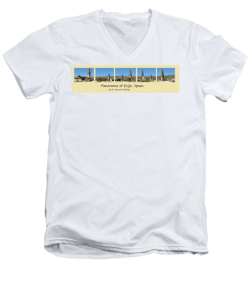 Panorama Of Ecija Spain Men's V-Neck T-Shirt